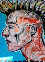 El Punk (franck.sastre) Tags: punk music art painting picture blue hair streetart