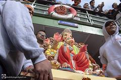 Ganesh Chaturthi Immersment. (alundisleyimages@gmail.com) Tags: festival ganeshchaturthi deity god religion tradition hindi india idol merseyferry people dress rivermersey ports harbours parade worship celebration liverpool england uk