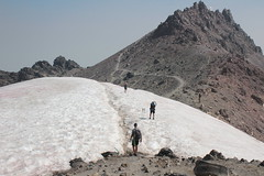 A bit of a snow walk between me and the summit (rozoneill) Tags: lassen volcanic national park peak hiking california volcano