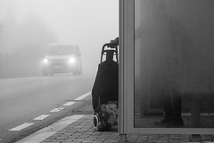 Waiting (Kornelson) Tags: wait fogg foggy foggyday busstop window screen fuji fujifilm fufinon xf18135 xt1