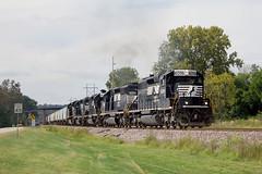 NS 6096 South (BSTPWRAIL) Tags: ns norfolk southern railroad railway manifest mixed freight local train sd402 sd70m2 locomotive locomotives rail road way farmdale illinois