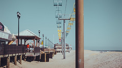 sky ride (Seaside, NJ) (Steve Stanger) Tags: beach beachseries ocean sand skyride beachscape beachscenebeach sceneseasidesummersunclear skyolympusolympus omd em10 mark iilumix g 25mm f17shorelinejersey shorejeseynew jersey nj