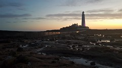 St. Mary's Island and Lighthouse - Whitley Bay (P) (Gilli8888) Tags: sunrise dawn northsea tyneandwear cameraphone samsung s7 coast coastal shoreline clouds sun colour silhouette silhouettephotography stmaryslighthouse stmarysisland sea seaside seascape northtyneside rocks rockpool causeway northeast