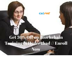 Get 30% Off on Blockchain Training in Hyderabad %2F%2F Enroll Now (calfre451@gmail.com) Tags: blockchain training learning