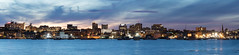 Portland, Maine Skyline (Ronda Hamm) Tags: 1585mm 7dii foreriver maine portland blue buildings canon city nightphotography panoramic skyline water