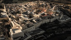 Beautiful Mdina from the air...landing on the Island (Ula P) Tags: view aerial malta old sony medieval