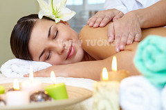 SPA 4 (01685916174a) Tags: spa massage people person female woman white young adult face body care bodycare charming lifestyle beauty pleasure serene calm pretty beautiful girl procedure relaxed relaxing healthy healthcare lying portrait alternative treatment shoulder restful peaceful wellness wellbeing brunette therapy luxury natural dayspa bare candle lily towel flower smiling happy positive expression