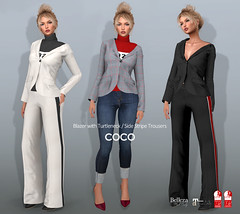 COCO New Release @ Fameshed (cocoro Lemon) Tags: coco newrelease fameshed blazer turtleneck trousers secondlife fashion mesh maitreya slink belleza