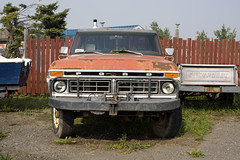 Ford Chevrolet (Curtis Gregory Perry) Tags: 70 miles house british columbia bc canada truck ford chevrolet pickup vehicle old nikon d810 grille headlights