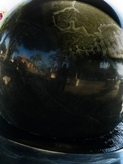 Orb 10 (LarryJay99 ) Tags: iphone7plus iphone7 orb globe round sphere black stone lakeworth florida sculpture art publicart urbanart ebony