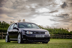 My Golf MK4 R32 (RevCheck Photography) Tags: vw vokswagen golf mk4 r32 v6 car vehicle transport motoring driving drive modified hobby interest colour green blue black sky cloud clouds tree grass field trees canon 6d ef24105mm f4l is usm
