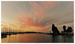 Sonnenuntergang am Balaton / Sunset on Lake Balaton (fotokarin57) Tags: elements balaton abendrot sonnenuntergang himmel dämmerung boot