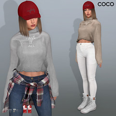 COCO New Release @my store (cocoro Lemon) Tags: coco newrelease hoodie mesh secondlife fashion maitreya slink belleza