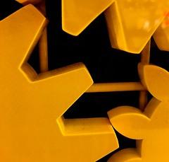 yellow (Grenzeloos1) Tags: macromondays hmm cogwheel yellow fun