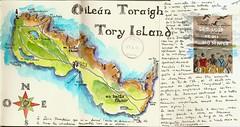 île de Tory - Oilean Toraigh (bigoudene46) Tags: carte îledetory toryisland thoraigh thorai donegal irlande ireland carnetdevoyage carnettiste bigoudene46 moleskineaccordéon
