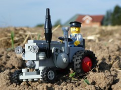 Lanzscape (captain_joe) Tags: toy spielzeug 365toyproject lego minifigure minifig moc car auto trecker tractor lanz bulldog lanzbulldog feld acker