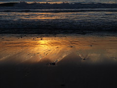 Golden sands (Chi Tranter) Tags: beach australia sunrise golden ocean sand light dawn sun blue pebbles