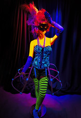 Something a Little Different! (WilliamND4) Tags: mannequin colorful blacklight nikon d810 lights colors