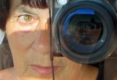 my canon eye (lualba) Tags: camera canon face woman eye auge frau gesicht kamera fotografieren selfie
