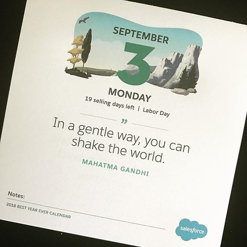 In a gentle way, you can shake the world. #mondaymotivation