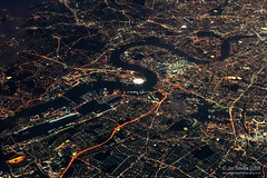 City of London (Jon Bowles) Tags: aerialphotography aerial night nightscape nightphotography birdseyeview london city citylights thames adapted minolta 55mm f28 o2 river