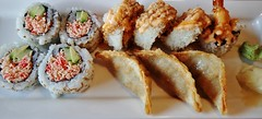 Sushi Lunch Special, Crisp Here, 710 Cumberland Avenue, Burlington, ON (Snuffy) Tags: food japanese crisphere 710cumberlandavenue burlington ontario canada