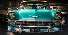 hey resto (Simon[L]) Tags: chevrolet 1956 turquoise edit hss canonfd35mmf2 chromenose restomod trichevy shoebox rollcage gm classic brooklandsamericanday2018