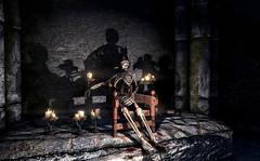 Malyn Varen (Rain Love AMR) Tags: skeleton skyrim pc gaming screenshot screencap malynvaren azurasstar ilinaltas deep theblackstar daedricquest shadow shadows altmer highelf armor