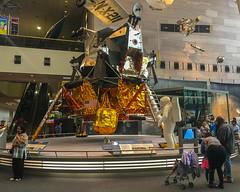 Looking At The LEM (John Kocijanski) Tags: lunarexcursionmodule vehicle museum nationalairandspacemuseum people spacecraft iphone6s