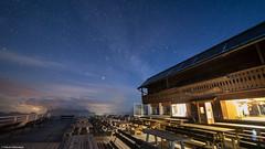 Rifugio Mount Lagazuoi, Dolomites, Italy (Neha & Chittaranjan Desai) Tags: italy dolomiti night astro milky way mountains hut rifugio mount lagazuoi cabin log