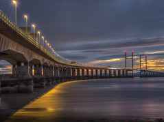you better run and hide there's trouble in the sky (Wizard CG) Tags: tags high tide shade 10 welding glass landscape second severn crossing the south west uk bridge bristol channel coast coastal landmark long exposure rocks water river seascape sunset hdr ngc world trekker micro four thirds 43 m43 olympus mzuiko digital ed architecture tourist attraction outdoor sky