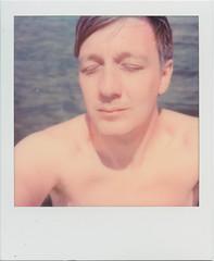 Lake selfie (SX-70) (mmartinsson) Tags: 2018 summer polaroidoriginals color sup lake scan schondorf instantfilm ammersee epsonperfectionv700 polaroid sx70 paddling analoguephotography schondorfamammersee bayern tyskland de