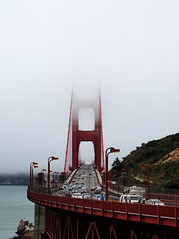 Shrouded Towers (The-Beauty-Of-Nature) Tags: summer sommer july juli nature california kalifornien usa vacation urlaub san francisco town city stadt coast bay golden gate bridge architecture foggy fog mist misty red rot