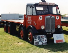 AEC Mammoth Major, BEW 77. (LBCSteve) Tags: london brick aec mammoth major red black