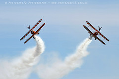 8044 Wingwalkers (photozone72) Tags: eastbourne airshows aircraft airshow aviation canon canon7dmk2 canon100400f4556lii 7dmk2 wingwalkers aerosuperbatics boeing stearman biplane