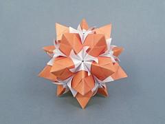 Talisman (masha_losk) Tags: kusudama кусудама origamiwork origamiart foliage origami paper paperfolding modularorigami unitorigami модульноеоригами оригами бумага folded symmetry design handmade art