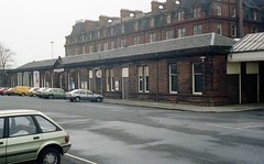 j9 Ayr 23mar85 (Ernies Railway Archive) Tags: ayrstation newtononayrstation falklandyard ayrharbour gswr lms scotrail