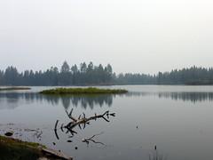 Manzanita Lake (simonov) Tags: lassen national park forest smokey air manzanita lake