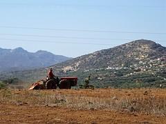 Farming. A new field, a new start. (Ia Löfquist) Tags: crete kreta farming lantbruk traktor tractor mountain berg fs180902 fotosondag fotosöndag start