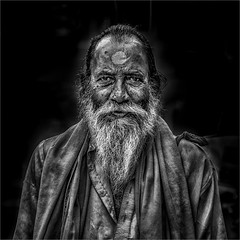 Happy soul (felixvancakenberghe) Tags: india asia asian man monochrome blackandwhite bw people portrait beard smile