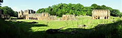 wide panoramic of the abbey ruins from the SW (eucharisto deo) Tags: furness abbey lakes lake lakes18 district cumbria lancashire monastery monastic ruins ruin dissolution henry viii cistercian panoramic panorama