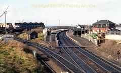 Newton on Ayr early 80's pre-electrification c661 (Ernies Railway Archive) Tags: newtononayrstation falklandyard gswr lms scotrail