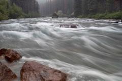 Maligne River (Edmonton Ken) Tags: maligne river jasper national park water rock trees smoke pine beetle slow shutter long granite flow green red travel tourism blur