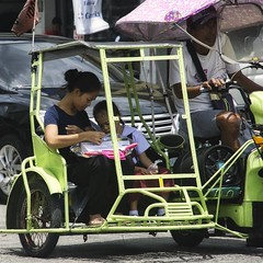 (Beegee49) Tags: street tricycle mother daughter bacolod city philippines