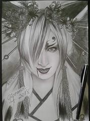 Asagi (Giovana Draw/ デザイン) Tags: draw desenho pencil grafite graphite visual kei jrock portrait branco preto grey black white illustration japanese
