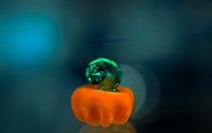 teeny tiny pumpkin (Dotsy McCurly) Tags: happysmileonsaturday miniinminimalism minimalistic minimal teeny tiny pumpkin blownglass art canoneos80d efs35mmf28macroisstm smileonsaturday
