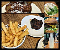 2018 Sydney collage: Lunch @Tramsheds (dominotic) Tags: 2018 food drinks meal salad chips steak burger croquette lunch butcherandthefarmer yᑌᗰᗰy tramshedsharoldpark iphone8 sydney australia