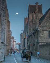 Bruges, Belgium-01694 (gsegelken) Tags: belgium bruges vantagetravel moon night
