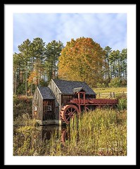 Vermont Grist Mill Fall (fieldingedward) Tags: grist mill old vermont new england usa seasonal season nature autumn leaf peeping leaves fall
