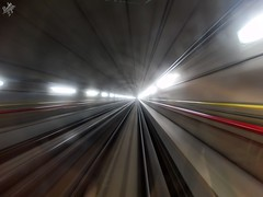 Running underground. Milano (diegoavanzi) Tags: milano milan italia italy sony hx300 bridge lombardia lombardy metropolitana underground longexposure